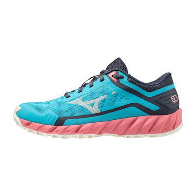 MIZUNO - WAVE IBUKI 3 - Chaussures trail Femme scuba blue/snow white/tea rose