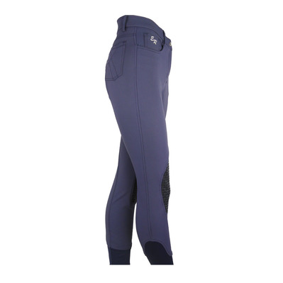 EASY RIDER - Euro-Star ZOHRA - Hose mit Silikonbesatz - Junior - smoke blue