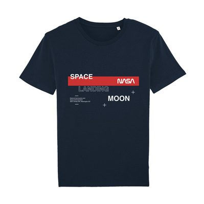 NASA - SPACELANDINGMOON - T-Shirt - navy