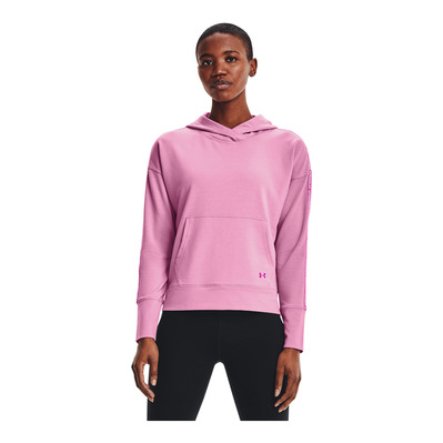 UNDER ARMOUR - RIVAL TERRY - Sweat Femme pink