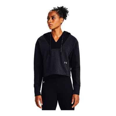 UNDER ARMOUR - RIVAL FLEECE - Sweat Femme black