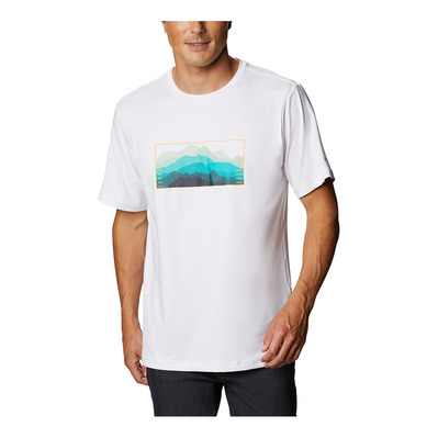 COLUMBIA - TECH TRAIL - Tee-shirt Homme white elevated