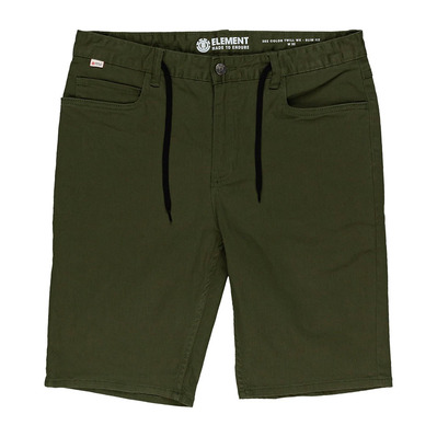 "ELEMENT - E02 COLOR TWILL 21"" - Short Homme black forest"