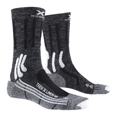 X-SOCKS - TREK X LINEN - Socken - Frauen - anthracite/black