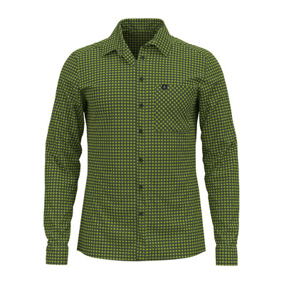 ODLO - Shirt l/s NIKKO CHECK Homme macaw green - climbing ivy