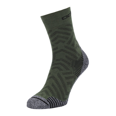 ODLO - CERAMICOOL HIKE GRAPHIC - Chaussettes climbing ivy/graphic ss21