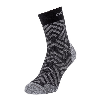 ODLO - CERAMICOOL HIKE GRAPHIC - Chaussettes black/odlo steel grey