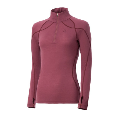 EQUIREX - MERINO WOOL - Camiseta térmica mujer berry