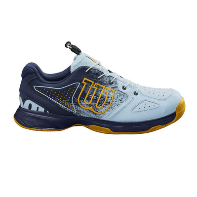 WILSON - KAOS - Chaussures tennis Junior omphalodes / peacoat / gold fusion