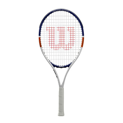 WILSON - R GARROS ELITE COMP JR CVR 26 - Raquette cordée Junior white blue orange