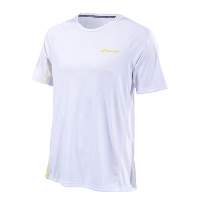 BABOLAT - PERFORMANCE CREW - Maillot Homme white/dark yellow