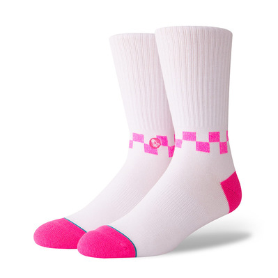 STANCE - ANTHEM CHECKNESS - Chaussettes Homme neon pink