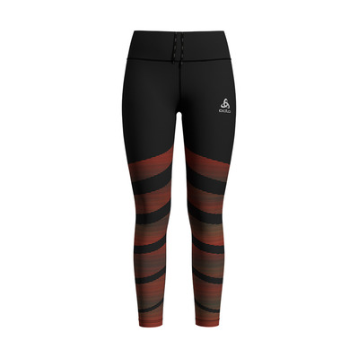 ODLO - ZEROWEIGHT - Mallas mujer black/placed print ss20
