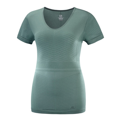 SALOMON - ELEVATE MOVE'ON - Maillot Femme balsam green