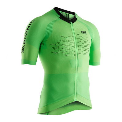 X-BIONIC - THE TRICK G2 BIKE ZIP - Camiseta hombre amazonas green/opal black