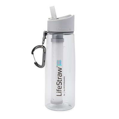 LIFESTRAW - GO 2 STAGES 650ML - Botella con filtro clear