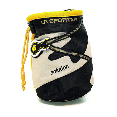 LA SPORTIVA - CHALK BAG SOLUTION- Portamagnesite black/ Beige