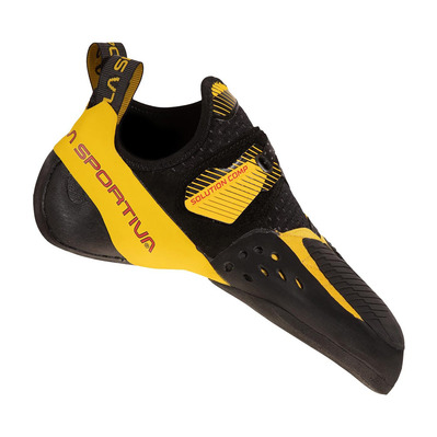 LA SPORTIVA - SOLUTION COMP - Pies de gato hombre black/yellow