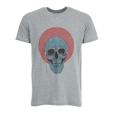 SOLTIB DESIGN - BLUE SKULL - T-Shirt - Men's - heather grey