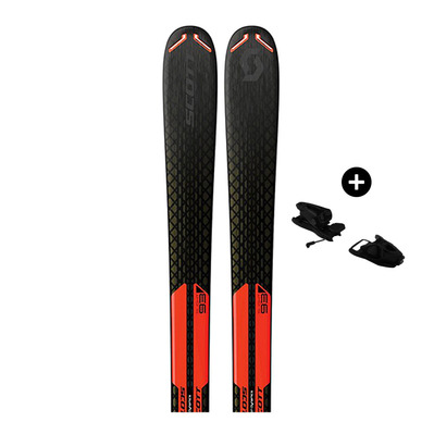 SCOTT - Pack Scott SLIGHT 93 - All Mountain Skis - black/orange