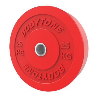 BODYTONE - BP25 25 KG - Rubber Disc with Steel Ring - red