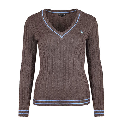 Isabell Werth - ZOPF - Pullover - Frauen - brown/light blue