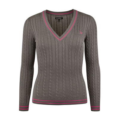 Isabell Werth - ZOPF - Pullover - Frauen - brown/pink