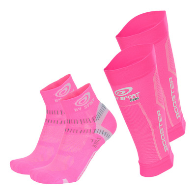 BV SPORT - PACK BOOSTER ELITE - Beinlinge + Socken - pink