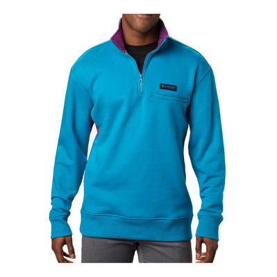 COLUMBIA - BUGASWEAT™ QUARTER ZIP - Sweatshirt - Männer - fjord blue/plum