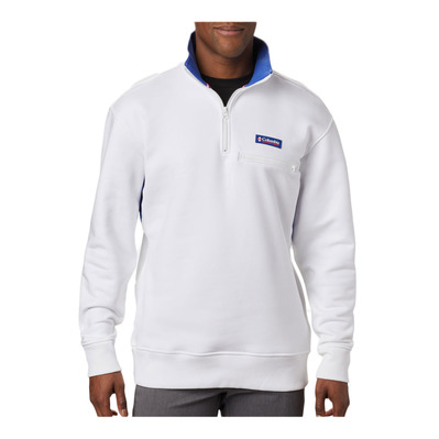 COLUMBIA - BUGASWEAT™ QUARTER ZIP - Sweatshirt - Männer - white/lapis blue
