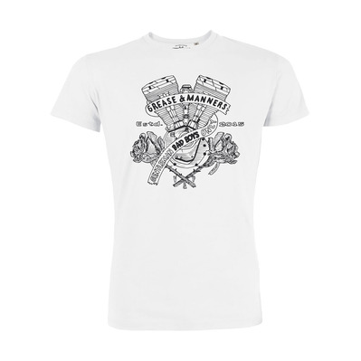 Vestons & Pistons - GREASE AND MANNERS - T-Shirt - Men's - white