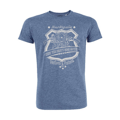 Vestons & Pistons - KEEP THE DIRTY SIDE DOWN - T-Shirt - Men's - mid heather blue