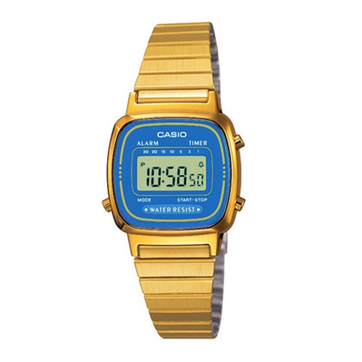 CASIO - VINTAGE 670 - Digital Watch - Women's - gold/blue