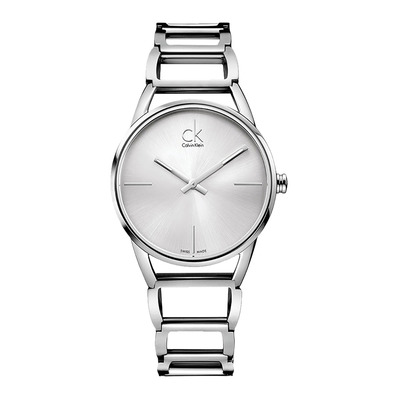 Calvin Klein - STATELY - Quartz Watch - Women's - silver