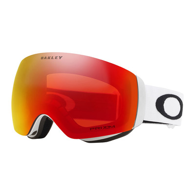 OAKLEY - FLIGHT DECK XM - Gafas de esquí matte white/prizm torch iridium
