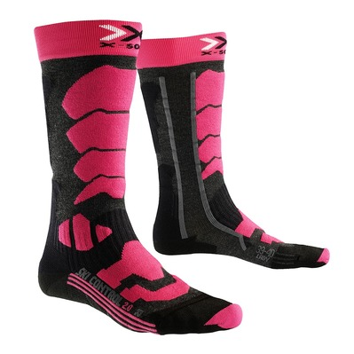 X-SOCKS - CONTROL 2.0 - Chaussettes Femme anthracite/fushia