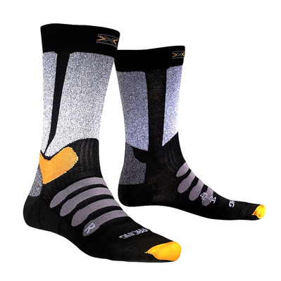 X-SOCKS - XC RACING - Calcetines black/grey melange