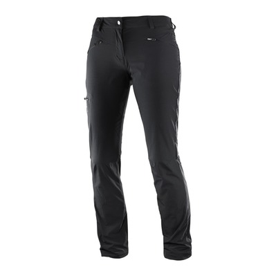 SALOMON - WAYFARER STRAIGHT - Pantaloni Donna black