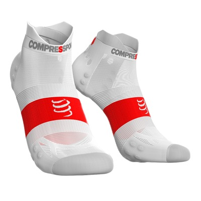 COMPRESSPORT - PRORACING V3 ULTRALIGHT RUN - Chaussettes white