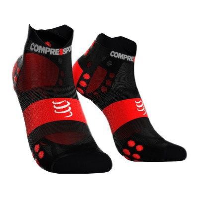 COMPRESSPORT - PRORACING V3 ULTRALIGHT RUN - Chaussettes black/red